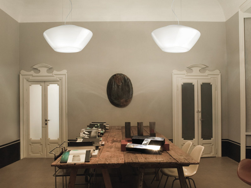 Glass pendant lamp NEBULA SP by Vetreria Vistosi