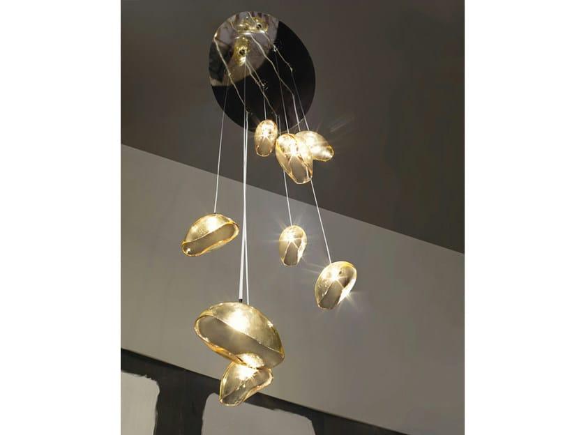 Murano glass chandelier NINFEA SP 8 P by Vetreria Vistosi