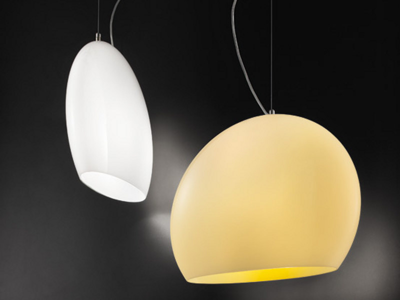 Glass pendant lamp NOON SP by Vetreria Vistosi
