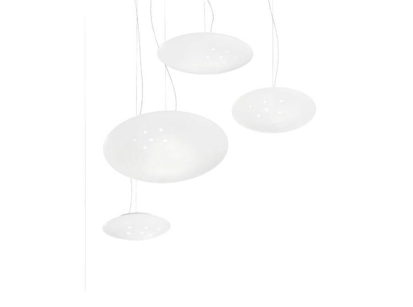 Glass pendant lamp NUVOLA SP by Vetreria Vistosi