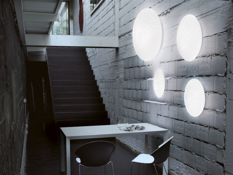 Glass wall light NUVOLA AP by Vetreria Vistosi