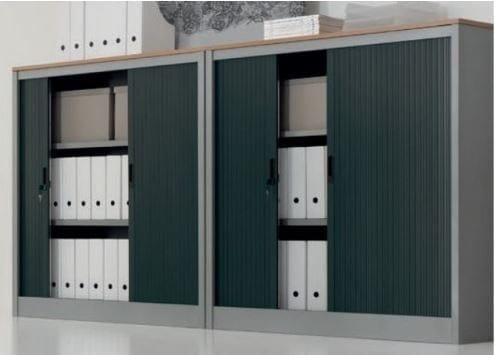 Libreria Ufficio Con Ante : Mobile ufficio in metallo con ante a serrandina mobile ufficio con