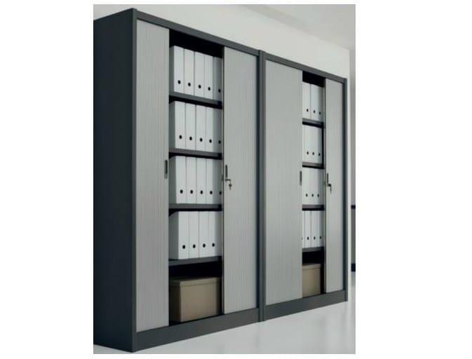 Metal office storage unit with tambour doors Office storage unit with tambour doors by Castellani.it