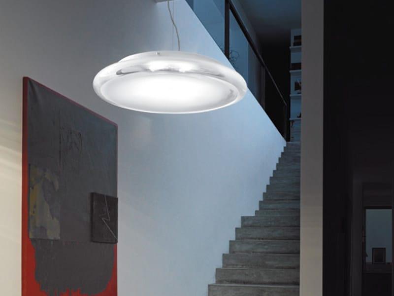 Glass pendant lamp POD SP by Vetreria Vistosi