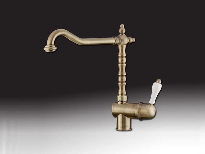 Countertop 1 hole kitchen mixer tap PRAGA | Kitchen mixer tap by Rubinetteria Giulini