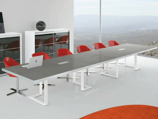 Rectangular wooden meeting table ARCHIMEDE | Rectangular meeting table by Castellani.it