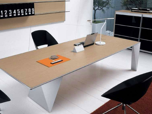 Rectangular wooden meeting table ERACLE | Meeting table by Castellani.it