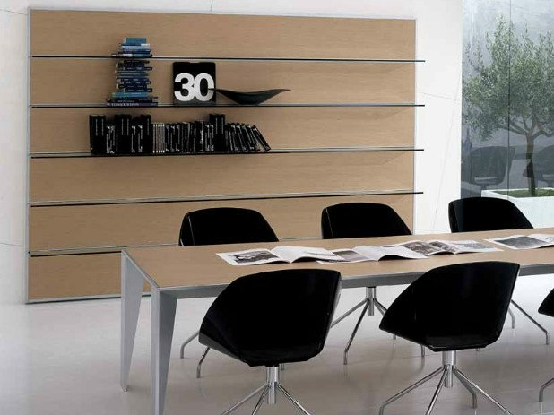 Wooden office shelving ERACLE | Office shelving by Castellani.it