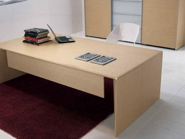 Rectangular wooden office desk ERACLE | Rectangular office desk by Castellani.it