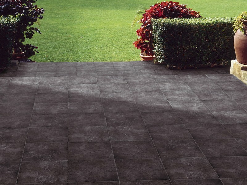 Outdoor floor tiles with stone effect ARDÓSIA by Revigrés