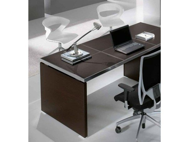 Rectangular wooden office desk ODEON | Rectangular office desk by Castellani.it