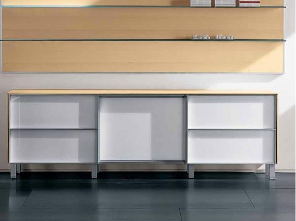 Wooden office storage unit ZEFIRO EXE | Office storage unit by Castellani.it