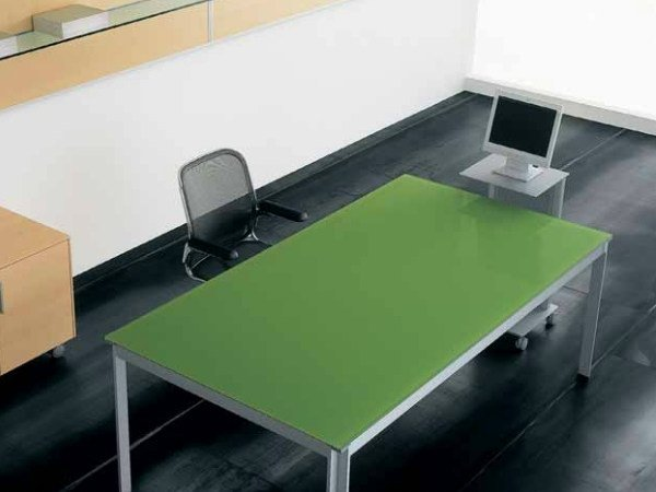 Lacquered rectangular workstation desk ZEFIRO EXE | Lacquered office desk by Castellani.it