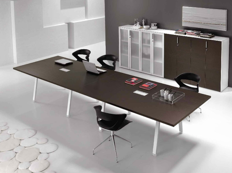 Rectangular wooden meeting table ATREO | Meeting table by Castellani.it