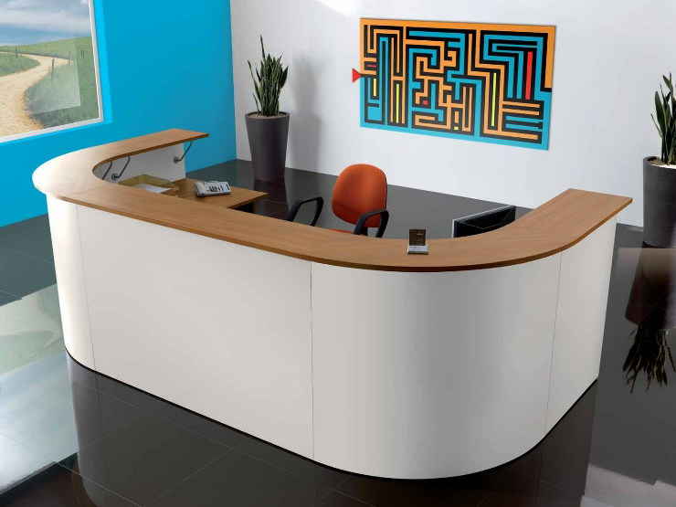 Wooden Office reception desk FUNNY   Office reception desk by Castellani.it