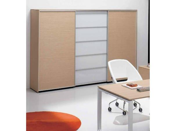 Wooden office storage unit PEGASO | Office storage unit by Castellani.it