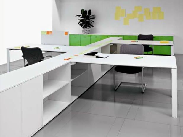 Multiple wooden office workstation VISTA | Office workstation by Castellani.it