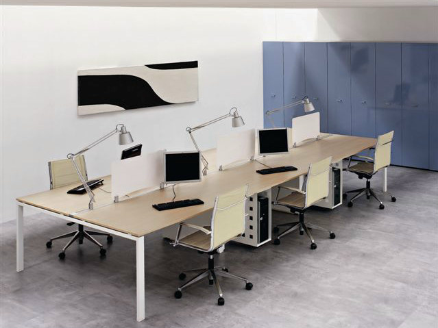 Multiple wooden office workstation VISTA | Multiple office workstation by Castellani.it