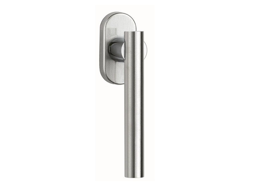 DK brass window handle on rose MODULO L | Window handle by Frascio