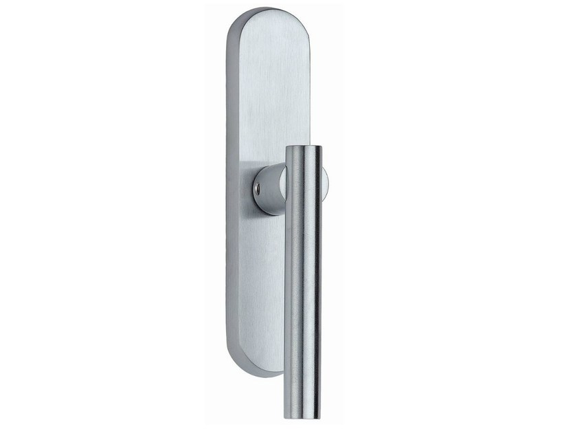 Brass Cremone handle on back plate MODULO L | Cremone handle by Frascio
