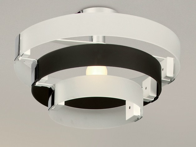 Indirect light glass ceiling lamp CORONA | Ceiling lamp by Cattaneo