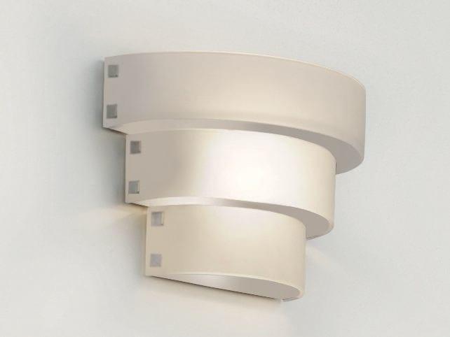 Indirect light glass wall light CORONA | Glass wall light by Cattaneo