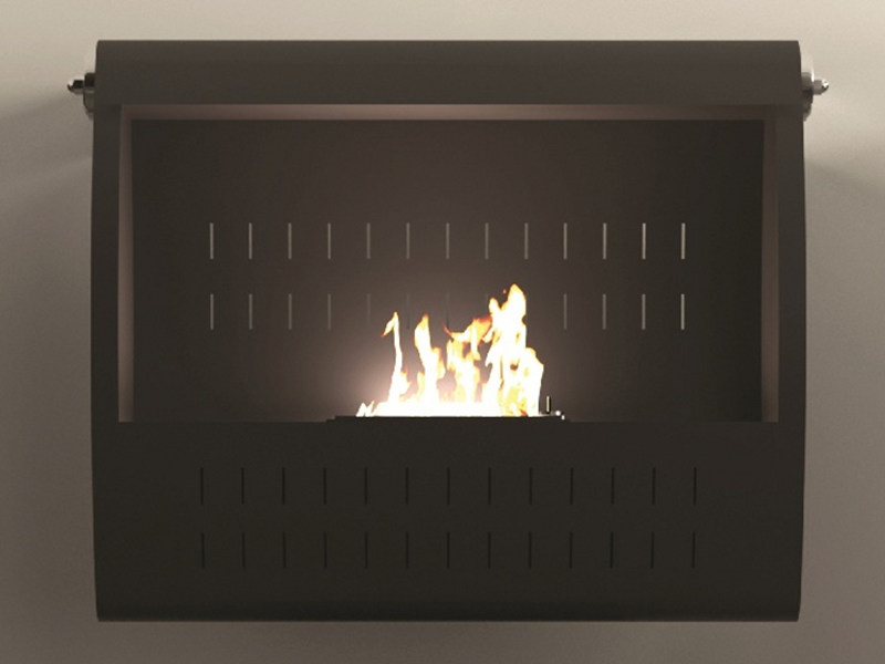 Bioethanol wall-mounted fireplace ULISSE by MOMA Design
