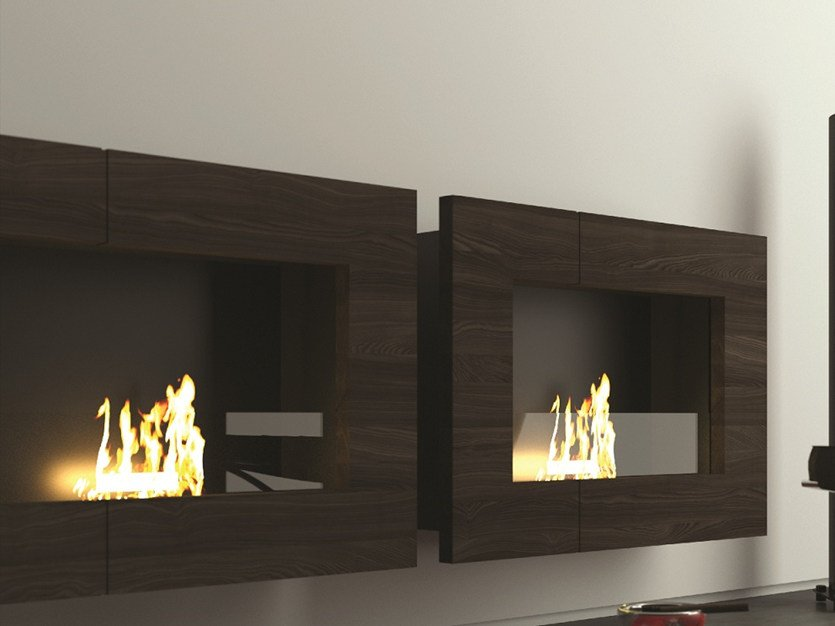 Bioethanol wall-mounted fireplace QUADRO by MOMA Design