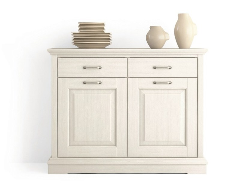 Wooden sideboard with doors with drawers ARIETTE | Sideboard with drawers by Scandola Mobili
