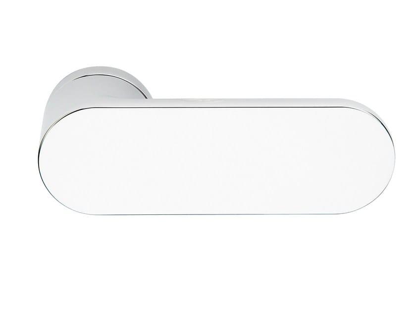 Zamak door handle polished chrome SLIM   Door handle by Frascio