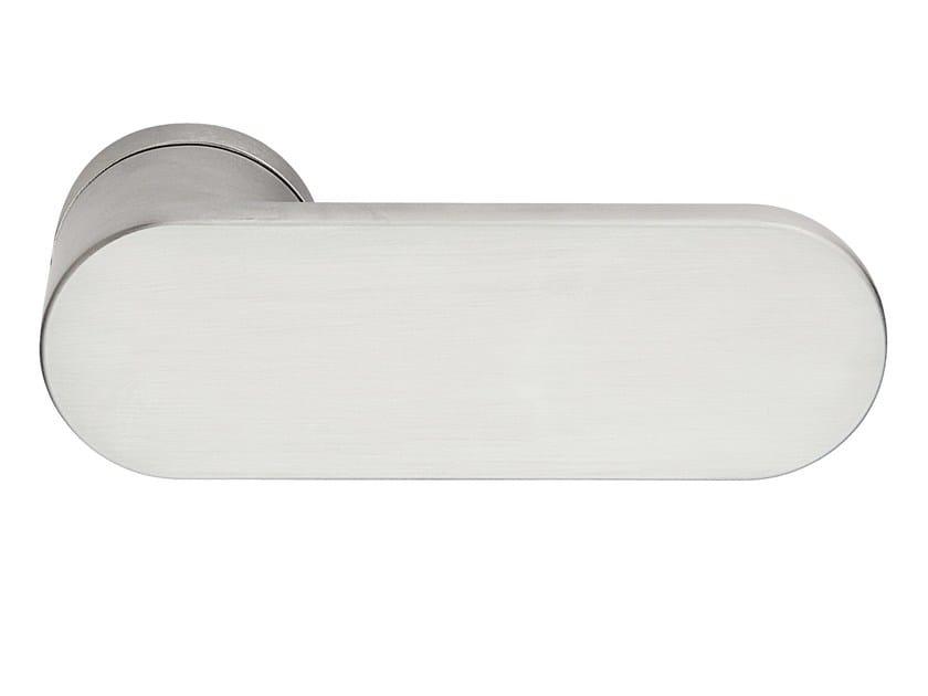 Zamak door handle satin chrome SLIM | Door handle by Frascio