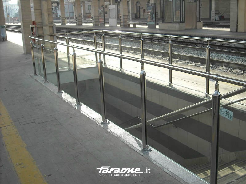 Glass and Stainless Steel balustrade ATENA by FARAONE
