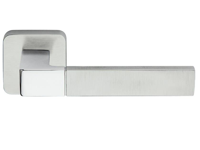 Zamak door handle on rose ICE PLUS   Door handle by Frascio