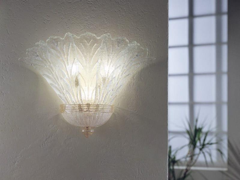 Glass wall lamp REDENTORE AP 5F G by Vetreria Vistosi