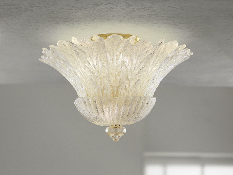 Glass ceiling lamp REDENTORE PL 16FP by Vetreria Vistosi