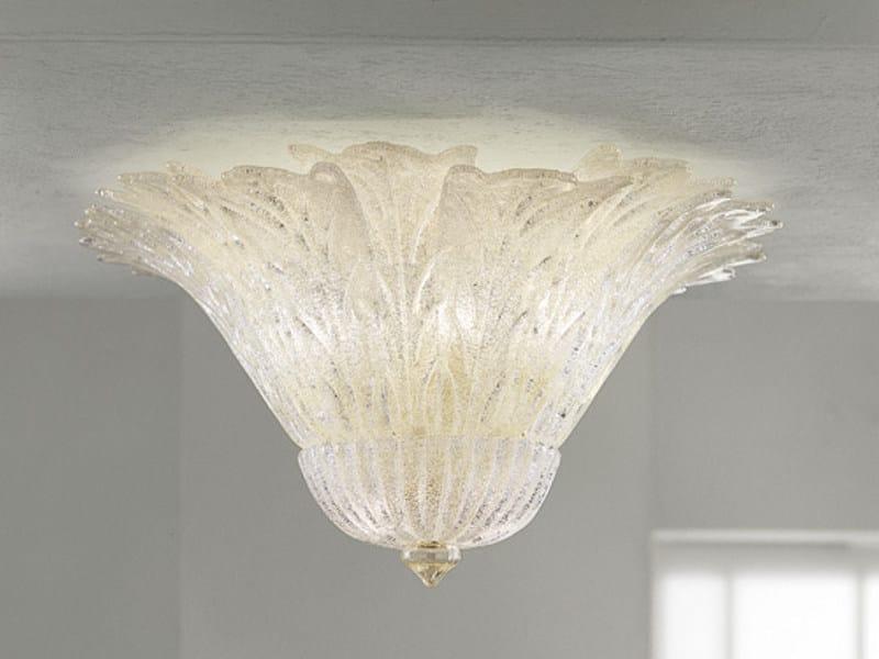 Glass ceiling lamp REDENTORE PL 16FG by Vetreria Vistosi
