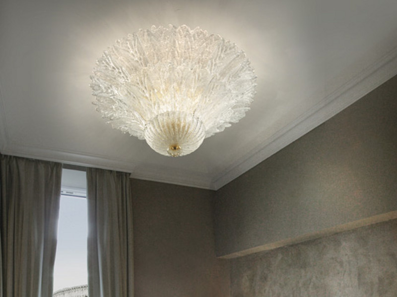 Glass ceiling lamp REDENTORE PL 46FP by Vetreria Vistosi
