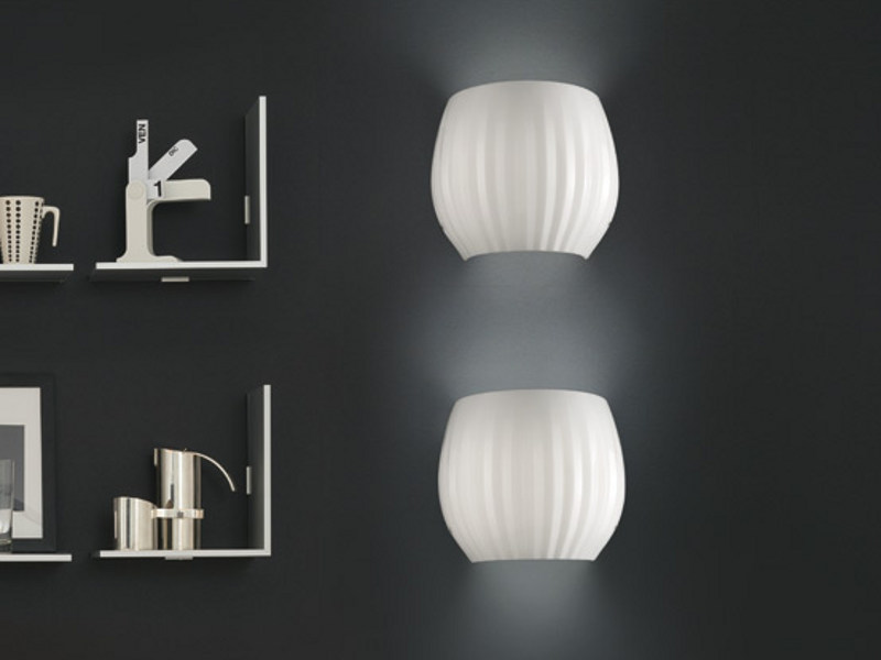 Blown glass wall lamp REDER AP G by Vetreria Vistosi