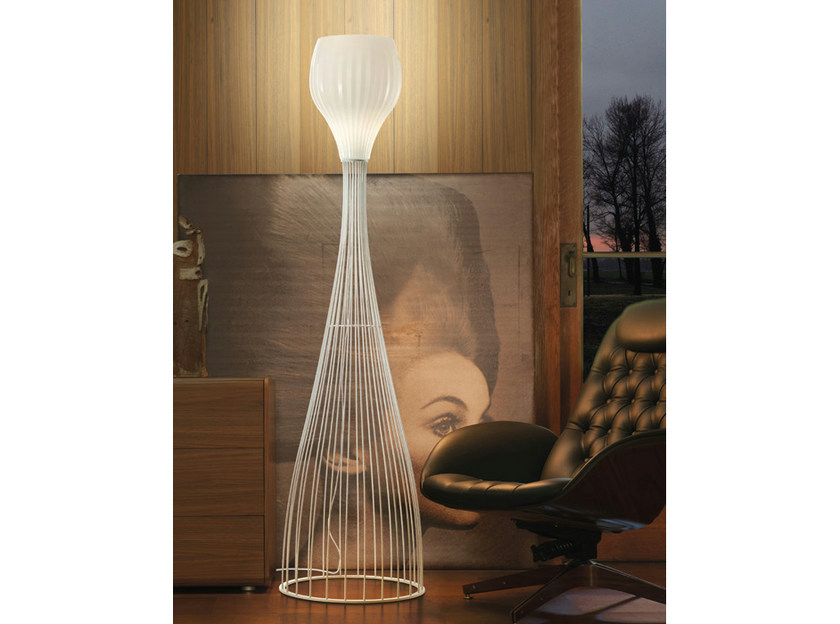 Blown glass floor lamp REDER PT by Vetreria Vistosi