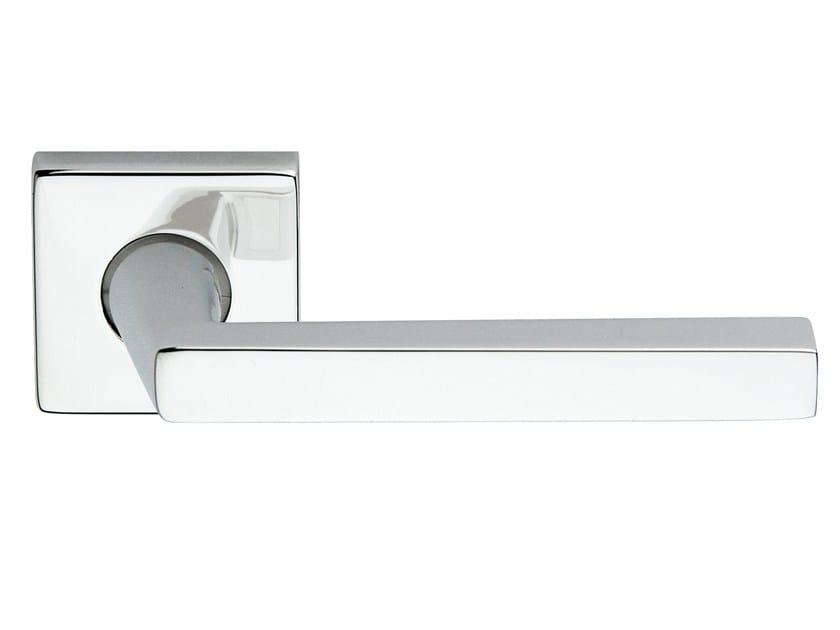 Zamak door handle on rose polished chrome EXPRESS   Door handle by Frascio