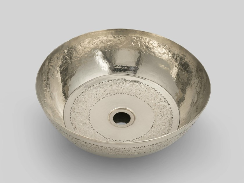 Countertop metal washbasin SILVER 1 by BLEU PROVENCE