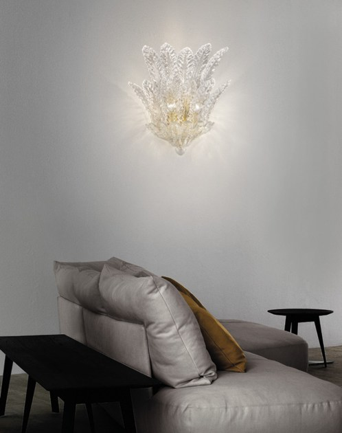 Crystal wall lamp RIALTO AP 7F by Vetreria Vistosi
