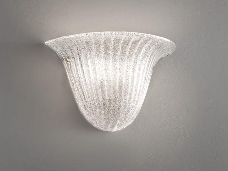 Glass wall light RIGA AP 40 by Vetreria Vistosi