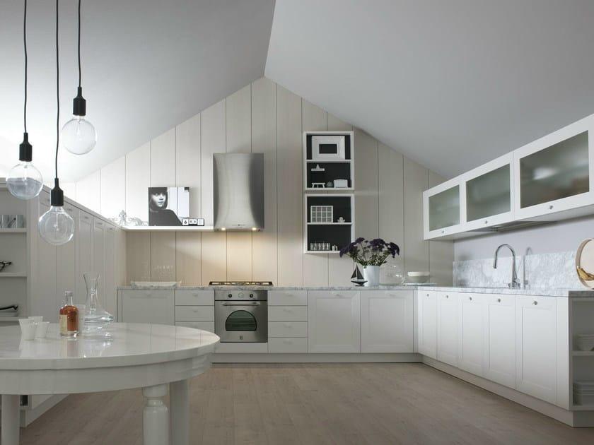 Lacquered linear kitchen NOA - COMPOSITION 4 by Cesar Arredamenti