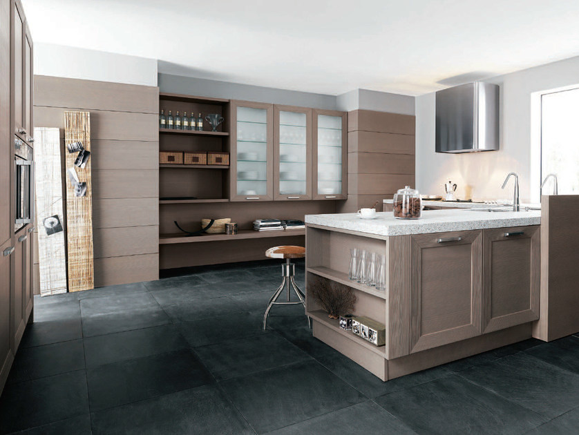 Kitchen with peninsula NOA - COMPOSITION 3 by Cesar Arredamenti