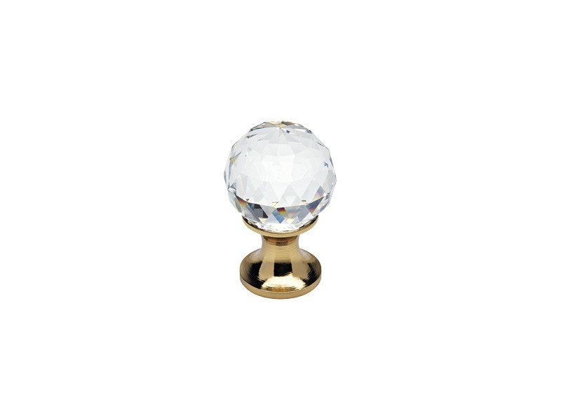 Classic style brass Furniture knob with Swarovski® Crystals CRYSTAL | Furniture knob with Swarovski® Crystals by LINEA CALI'