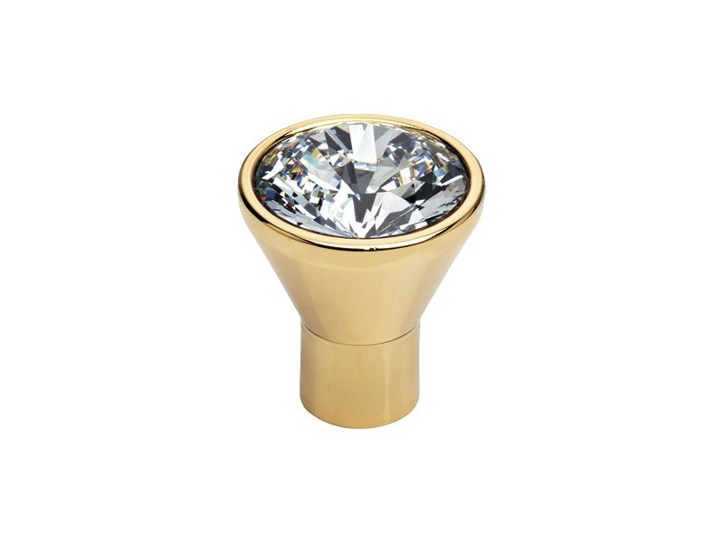 Classic style brass Furniture knob with Swarovski® Crystals DIAMANTE | Furniture knob with Swarovski® Crystals by LINEA CALI'