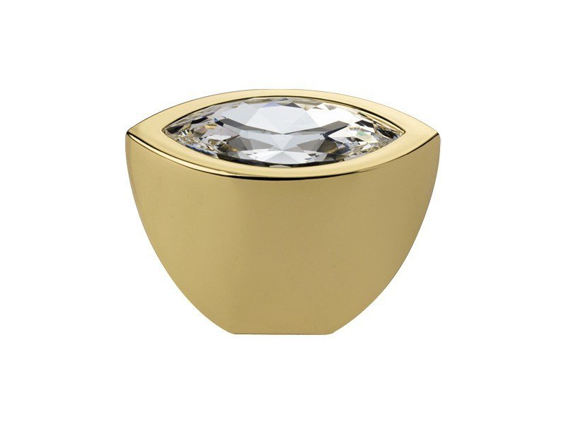 Classic style brass Furniture knob with Swarovski® Crystals ELIPSE | Furniture knob with Swarovski® Crystals by LINEA CALI'