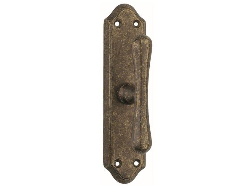 Brass window handle on back plate STAR   Window handle on back plate by Frascio