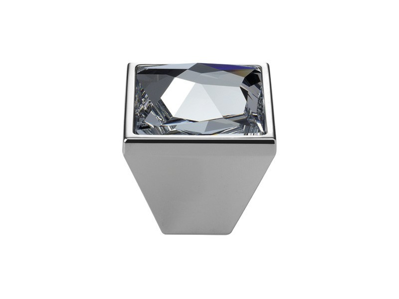 Contemporary style brass Furniture knob with Swarovski® Crystals POP-ART | Furniture knob with Swarovski® Crystals by LINEA CALI'